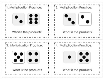 Multiplication Dice Fact Task Cards