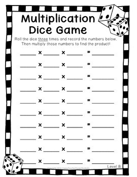 photograph regarding Multiplication Game Printable named Multiplication Cube Video game: 4 Styles incorporated - Multiplication Match Printable