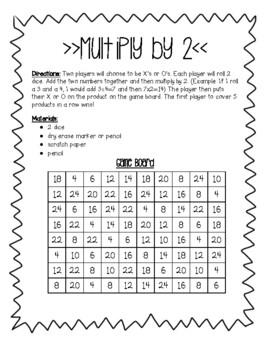 Multiplication Dice Games!