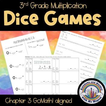 Multiplication Dice Games - 3rd Grade Ch. 3 GoMath! Aligned