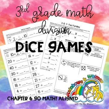 Division Dice Games - 3rd Grade Ch. 6 GoMath! Aligned