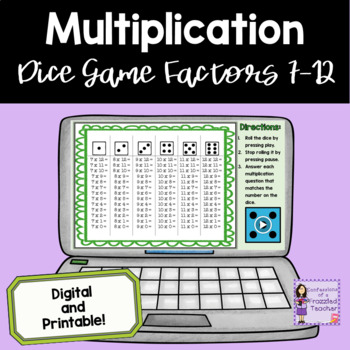 Multiplication Dice Games - Facts 7-12