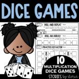 Multiplication Dice Games   Printable and Digital