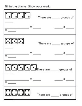 Multiplication Dice Groupings