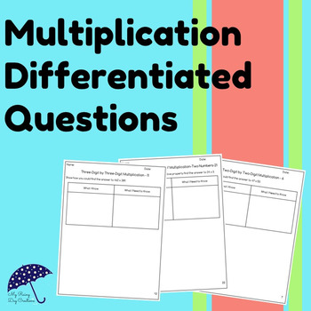 Multiplication Differentiated Question Pages