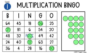 Multiplication Digital BINGO