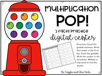 Multiplication Digital Centers (2, 3, 4, 5 Facts)