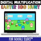 Multiplication Digital Easter Egg Hunt Google Slides Editable