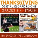 Multiplication Digital Escape Room Bundle Grades 3 & 4 --D