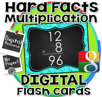 Multiplication Digital Flash Cards (Google) - THE HARD ONES!