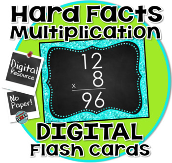 Multiplication Digital Flash Cards (PowerPoint) - THE HARD ONES!