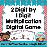 Multiplication Digital Game: 2 Digit by 1 Digit ~ PowerPoint and Google Versions