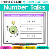 Digital Number Talks: Third Grade Multiplication (Math Warm-Ups)
