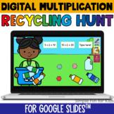 Multiplication Digital Recycling Hunt Google Slides Editable