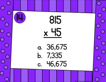 Multiplication Digital Task Cards Google Classroom