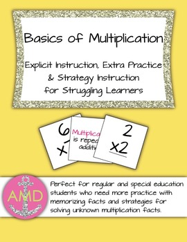 Multiplication Direct Instruction Extra Practice Reg & Spec Ed 3rd and 4th Math