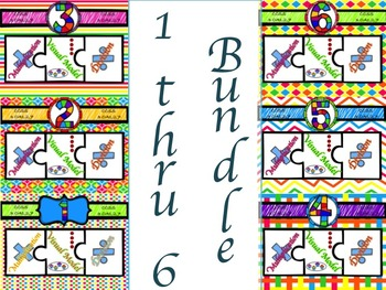 Multiplication & Division 1-6 Puzzles with Visual Model