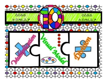 Multiplication & Division 10s Puzzle with Visual Model