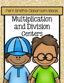 Multiplication and Division Math Quick and Easy To Prep Center Bundles