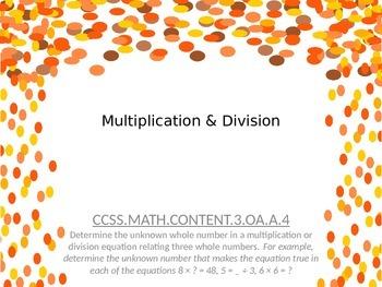 Thanksgiving Multiplication & Division