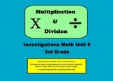 Multiplication & Division 3rd grade SMARTboard Lessons Investigations Unit 5
