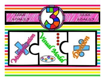 Multiplication & Division 3s Puzzle with Visual Model