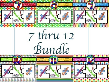 Multiplication & Division 7-12 Puzzles with Visual Model