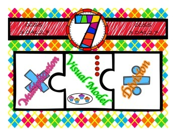 Multiplication & Division 7s Puzzle with Visual Model