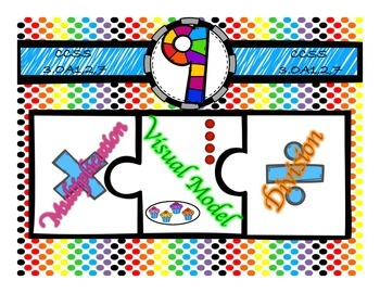 Multiplication & Division 9s Puzzle with Visual Model