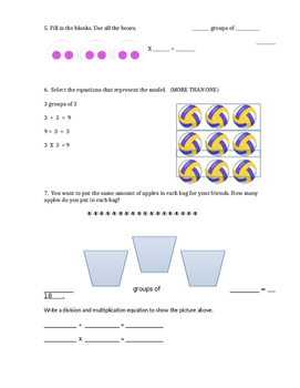 Multiplication Division Assessment or Review Unit 1