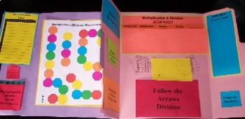 Multiplication & Division Basic Facts Games Lapbook