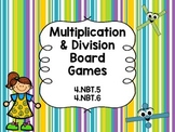 Multiplication & Division Board Games 4.NBT.5, 4.NBT.6