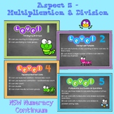 Multiplication & Division Bump it Up Wall - NSW Numeracy Continuum Aligned