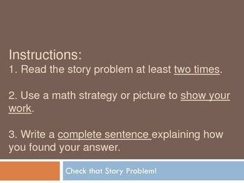 Multiplication & Division Check Your Work Story Problems C