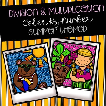 Multiplication & Division Color-By-Number