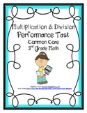 Multiplication & Division Common Core Performance Task Mat