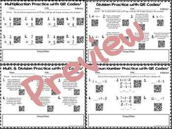 Multiplication and Division Practice with QR Codes