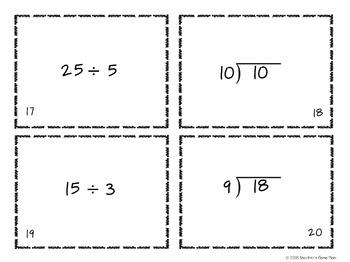 Multiplication & Division Computation Task Cards - 2 Sets - 64 Task Cards