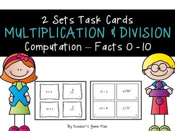 Multiplication & Division Computation Task Cards - 2 Sets