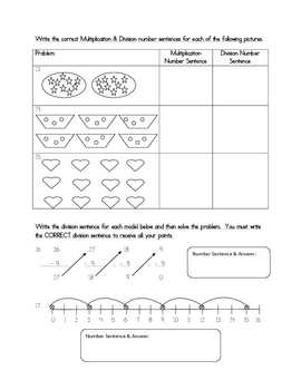 Multiplication & Division Concepts Test