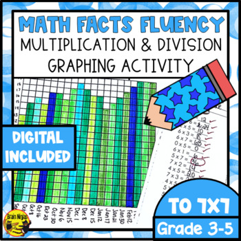 Multiplication & Division Drill and Graph Practice by Brain Ninjas