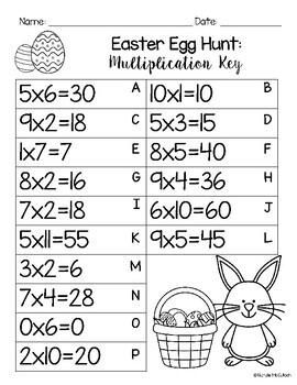 Multiplication & Division Easter Egg Hunt