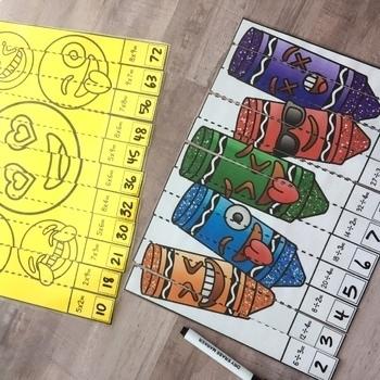 Emoji Multiplication & Division Math Bundle