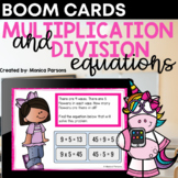 Multiplication & Division Equations Boom™ Cards - Distance