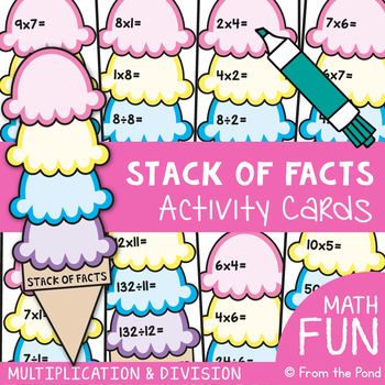 Multiplication & Division Fact Families {Activity Cards}