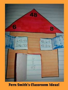 Multiplication and Division Fact Families Center Game and Notebook Activities