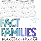 Multiplication Division Fact Families Practice