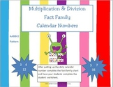 Multiplication & Division -Fact Family- Calendar Numbers (
