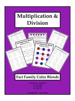 Multiplication & Division Fact Family Color Blends
