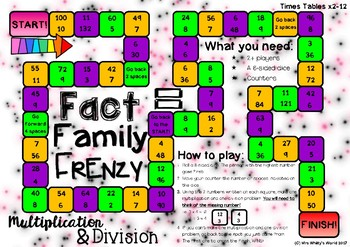 Multiplication & Division 'Fact Family Frenzy' Board Game